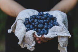 batido de arandanos y frutos rojos