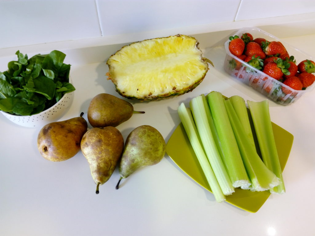 Ingredientes batidos verdes rápidos