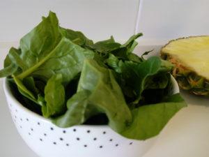 Batido verde con espinacas y peras