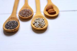 semillas de chía, calabaza