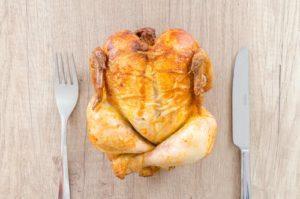 Pollo asado para aumentar masa muscular