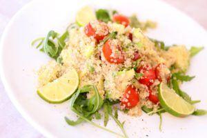 Quinoa con rúcula