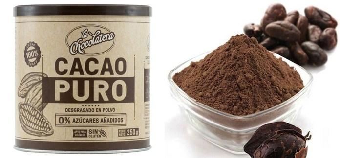 Cacao puro sin azúcar