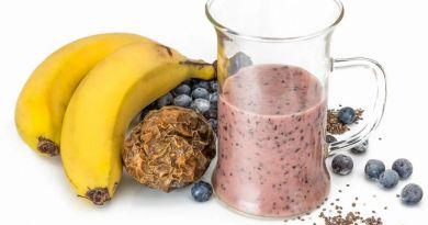 Batido de proteínas natural
